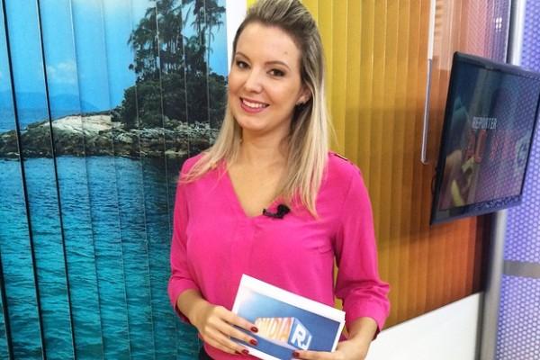 Ellen Schaphauser apresenta o Bom Dia Rio (Foto: Arquivo Pessoal/ Ellen Schaphauser)