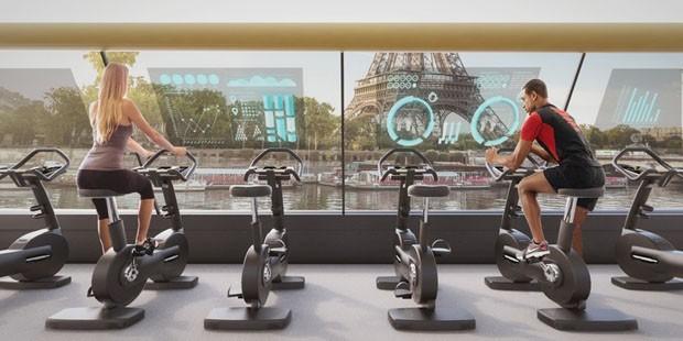 Academia flutuante fará um tour por Paris por meio do Rio Sena (Foto: Divulgação)
