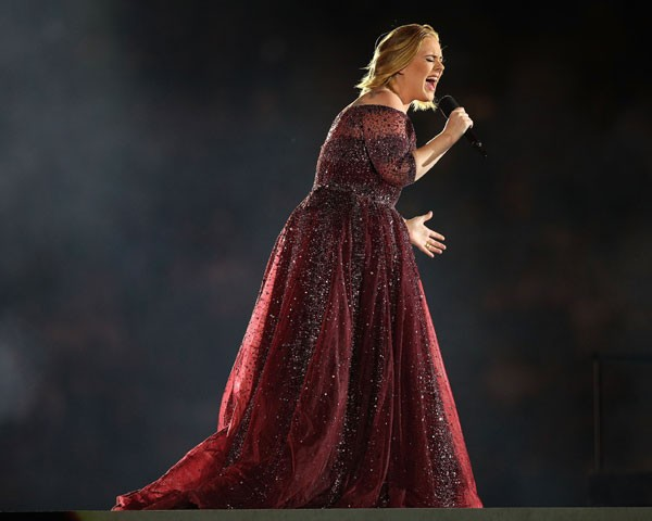Adele se apresenta na Nova Zelândia (Foto: Getty Images)