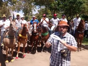 Protesto a favor das vaquejadas em João Pessoa (Foto: Diogo Almeida/G1)