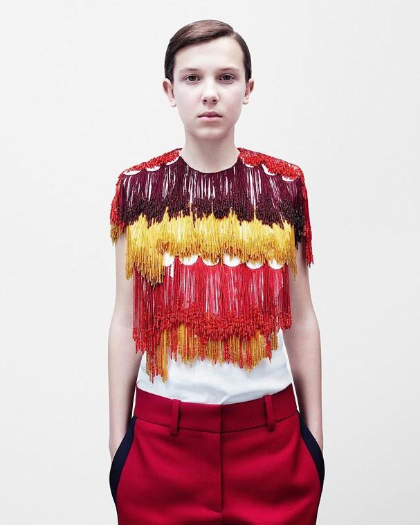 Millie Bobby Brown para a nova linha Calvin Klein By Appointment (Foto: Reprodução Instagram)