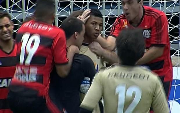 Flamengo vence o Atlético-PR e está na final da Liga Nacional Fut 7 (Foto: Frame SporTV)
