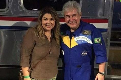 Fabiana Karla e Marcos Pontes (Foto: Arquivo pessoal)