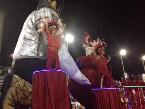 Bandeirantes do Saboó Carnaval em Santos (Foto: Orion Pires/G1)