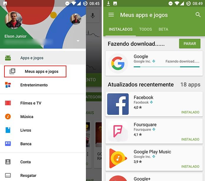 Play Store baixará o aplicativo beta assim que o usuário confirmar participação em testes (Foto: Reprodução/Elson de Souza)