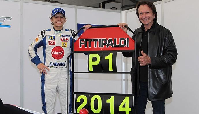 Emerson Fittipaldi Pietro Fittipaldi Fórmula Renault Inglesa (Foto: Divulgação/Jakob Ebrey)