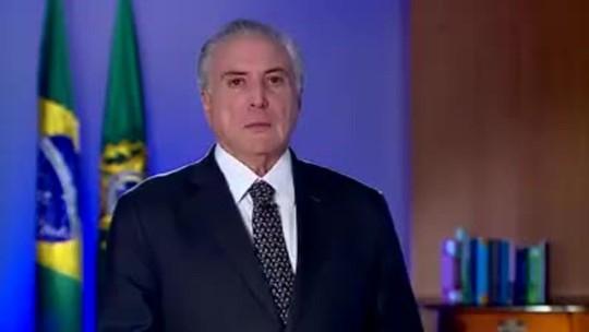 'Brasil não parou e não vai parar', diz Temer após protestos em Brasília