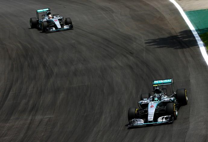 Nico Rosberg e Hamilton, GP do Brasil, Fórmula 1 (Foto: Getty Images)