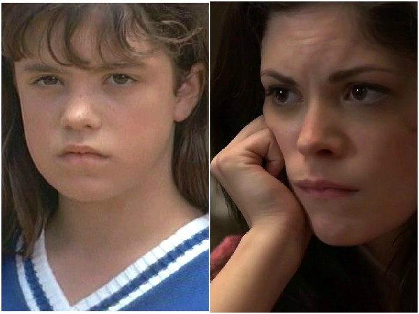 Shawna Waldron em 1994 e 2014 – Shawna começou a carreira em 'O pequeno Grande Time' e depois encontrou seu espaço como atriz em filmes de terror alternativos. Ela já participou de 'Stitch', 'Lizzie' e 'Cyrus'. (Foto: Divulgação)