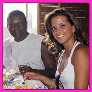 Renata Santos e Emílio Santiago (Foto: Instagram / Reprodução)