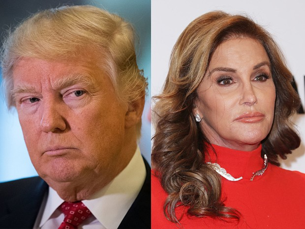 Donald Trump e Caitlyn Jenner (Foto: Getty Images)