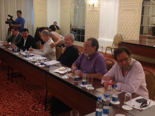 Reunião da cúpula do PT em São Paulo (Foto: Márcio Pinho/G1)