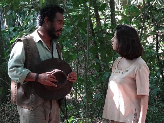 Negro Fagundes pede Lindinalva em casamento (Foto: Divulgação/TV Globo)
