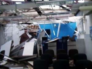 Bandidos fugiram após ataque (Foto: Jair Medrado/Site A Voz de Brejões)