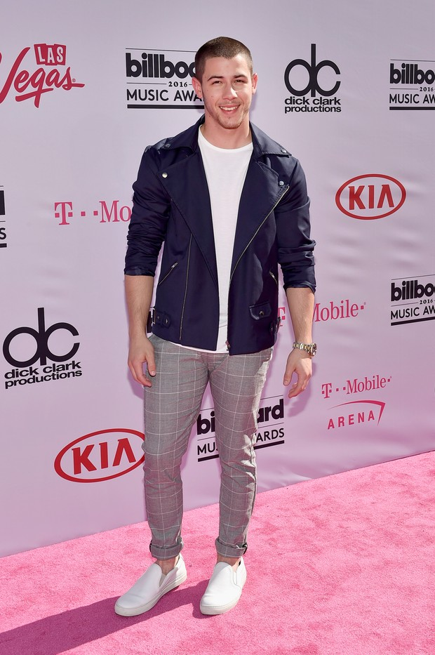 Nick Jonas no Billboard Music Awards (Foto: AFP)