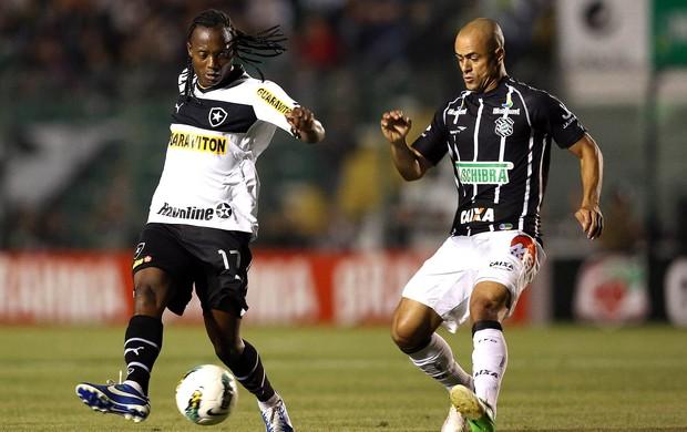 Andrezinho e Julio Cesar na partida do Figueirense contra o Botafogo (Foto: Cristiano Andujar / Agência Estado)