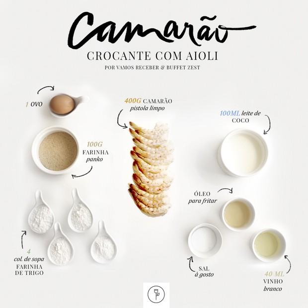 Aprenda: camarão crocante com aioli