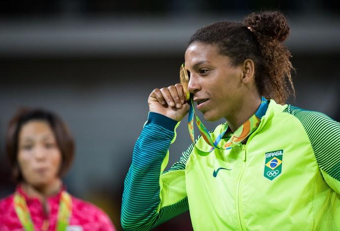Rafaela Silva, judô, medalha ouro (Foto: ANDRE MOURAO/NOPP)