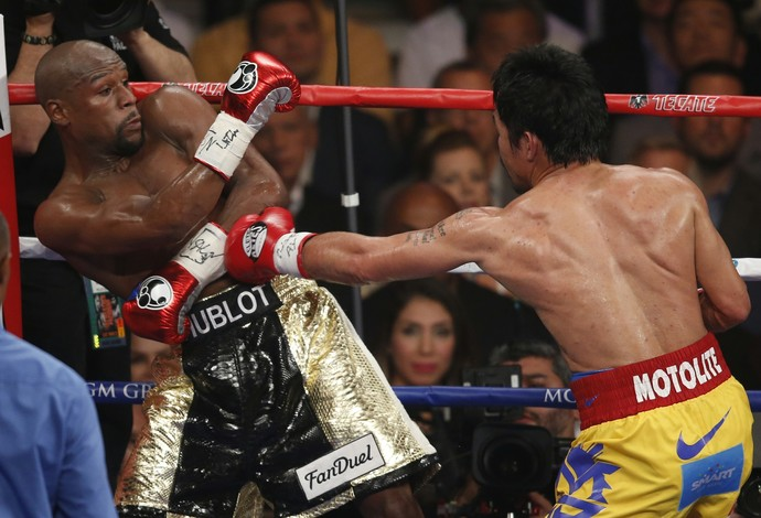 Manny Pacquiao x Floyd Mayweather (Foto: AP)