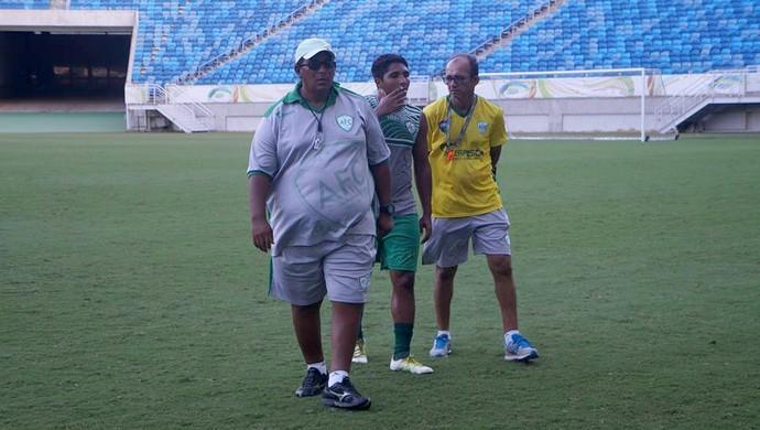 Alecrim - Edson Alves - Valdierre Ferreira (amarelo) (Foto: Diogenes Baracho/Alecrim FC/Divulgação)