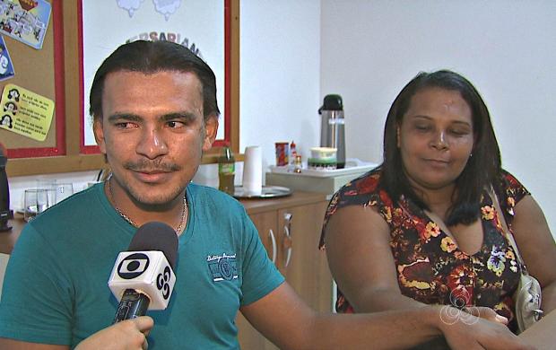 Mãe e filho se reencontram no Acre (Foto: Acre TV)
