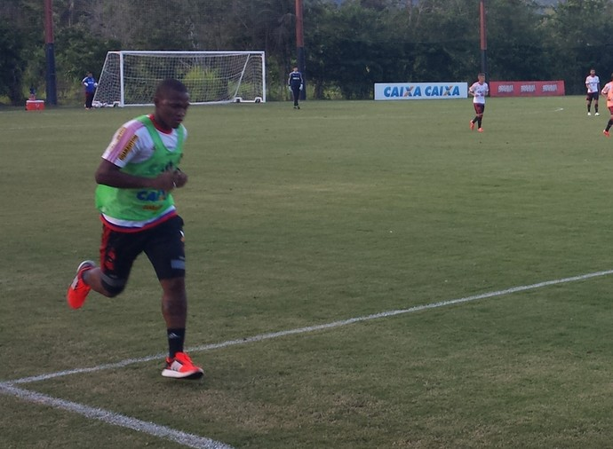 Samir, treino Flamengo (Foto: Sofia Miranda)