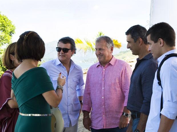 Ex-jogador comenta relação com as protagonistas Gloria Pires e Adriana Esteves e revela admiração por Cassio Gabus Mendes e Marcos Pasquim (Foto: Adriana Garcia/Gshow)