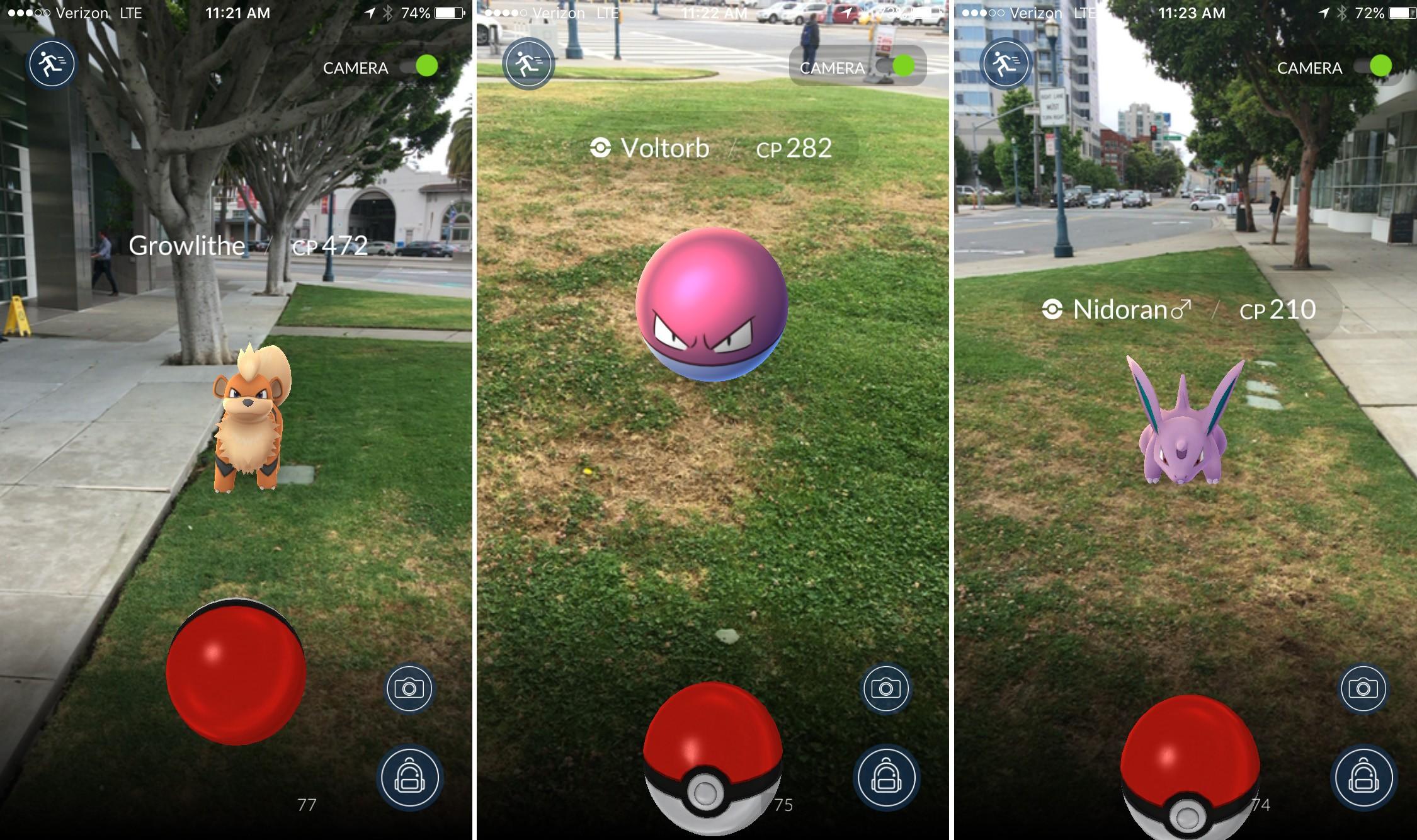 É assim que você captura um Pokémon no game (Foto: Reprodução)