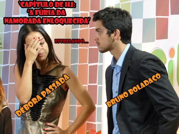 Vish...a Débora não curtiu o show da Fat. O que será que o Bruno vai fazer agora? (Foto: Malhação / Tv Globo)