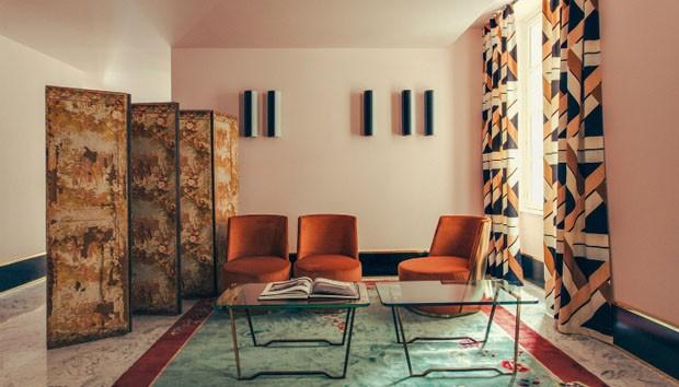 Décor do dia: sala de estar com inspiração art déco (Foto: reprodução)