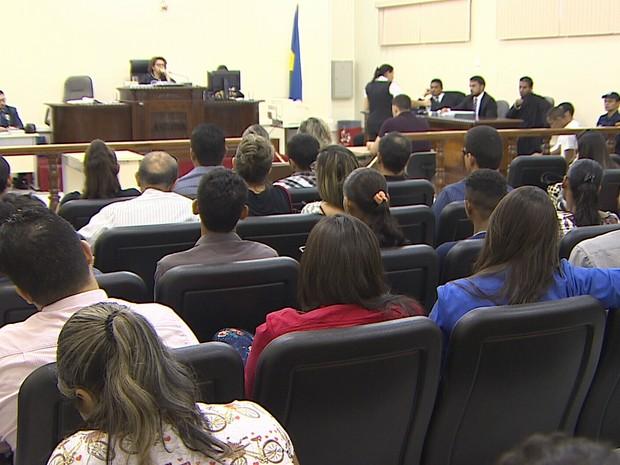 Julgamento do caso Nicinha, em Porto Velho (Foto: Reprodução/Rede Amazônica)
