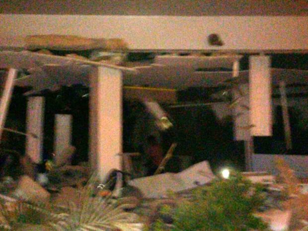 Grupo explode banco e mulher morre durante troca de tiro em Colinas (Foto: Divulgação/Polícia)