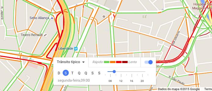 Visualizando trânsito típico para as vias (Foto: Reprodução/Helito Bijora)