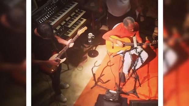 Gilberto Gil participa do Estdio do Dado (crditos: Instagram) (Foto: Instagram)