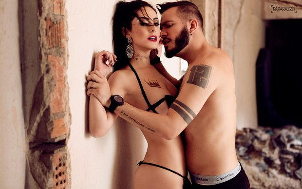 Max Porto e Francine Piaia no Paparazzo (Foto: Marcos Serra Lima/Paparazzo)