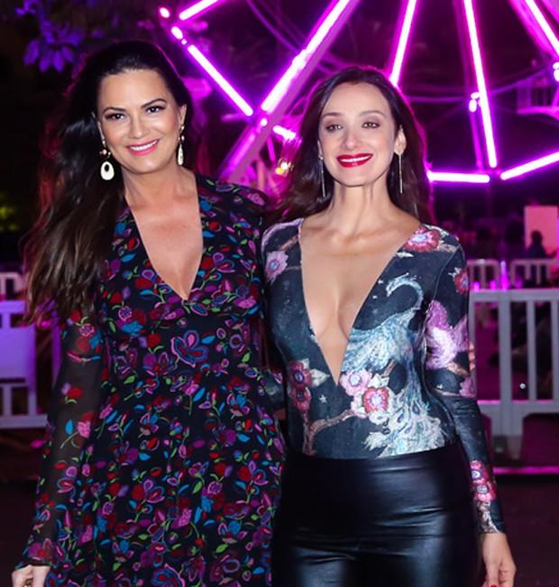 Luiza Brunet e Sabrina Parlatore (Foto: Manuela Scarpa/Brazil News)