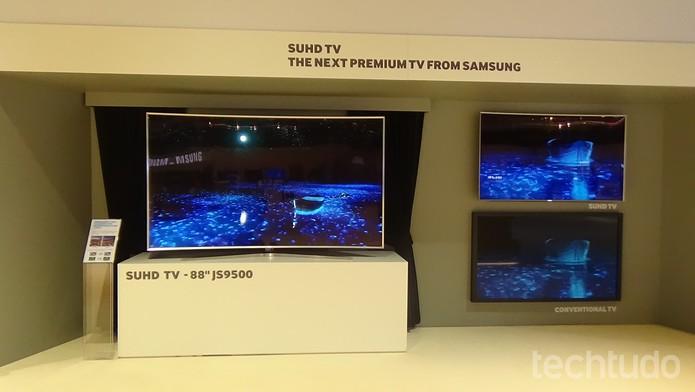 S UHDTV chamou atenção durante o Samsung Fórum 2015  (Foto: Gabriela Fiszman/TechTudo)