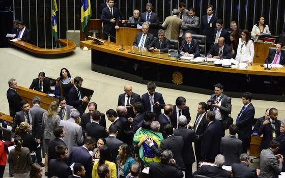 Sessão extraordinária para processo de eleição da comissão inicial do impeachment  (Foto: Gustavo Lima / Câmara dos Deputados)