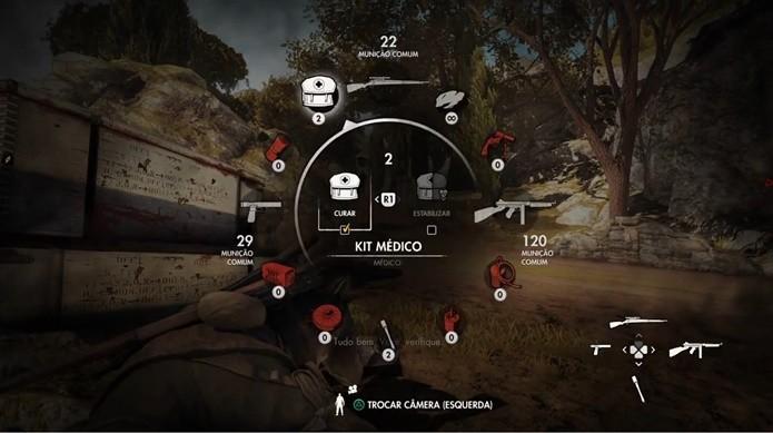 Itens de cura de Sniper Elite 4 são raros, mas eficazes (Foto: Reprodução/Felipe Demartini)