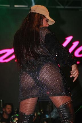 Ludmilla em show em São Paulo (Foto: Raphael Castello/ Ag. News)