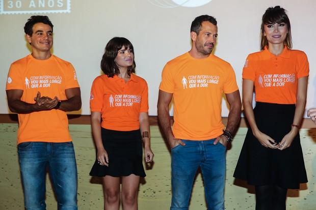 Anderson Di Rizzi, Vanessa Giácomo, Malvino Salvador e Maria Casadevall em evento em São Paulo (Foto: Manuela Scarpa / Foto Rio News)
