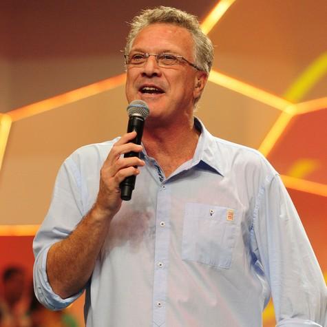 Pedro Bial à frente do 'BBB' (Foto: TV Globo)