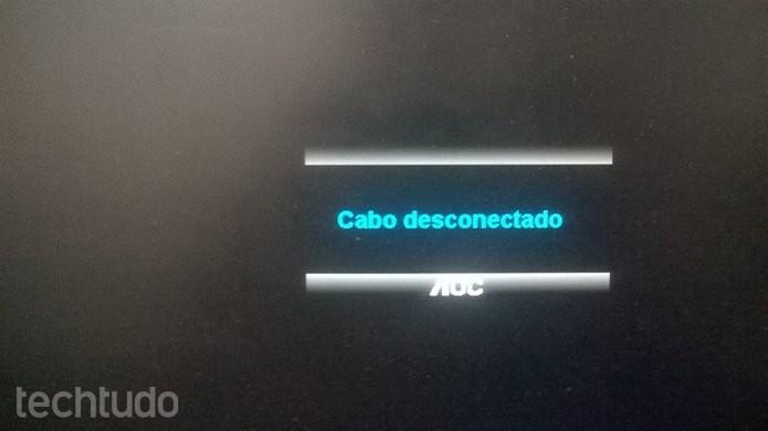"""Mensagem de """"Cabo Desconectado"""" também pode indicar outros problemas (Foto: Dario Coutinho/TechTudo)"""