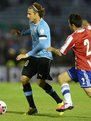Forlan, Uruguai x Paraguai (Foto: AFP)