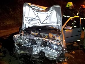 Acidente deixou uma vítima em Caxias do Sul (Foto: Polícia Rodoviária Federal/Divulgação)