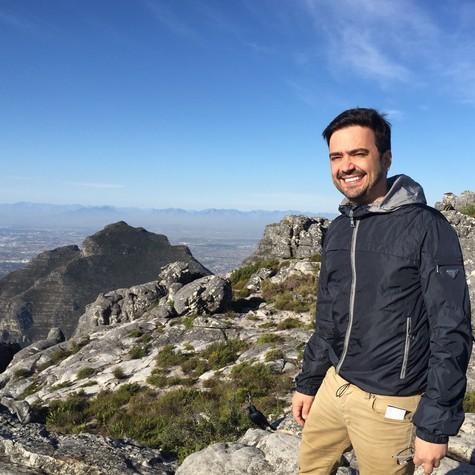 Daniel Ortiz na Cidade do Cabo (Foto: Arquivo pessoal)
