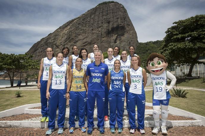 Rio de Janeiro apresenta seu elenco para a temporada 2015/2016 (Foto: Márcio Rodrigues)