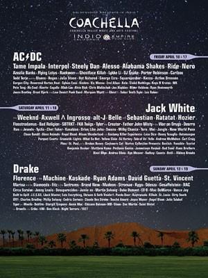 Cartaz oficial mostra o line-up do Coachella 2015 (Foto: Divulgação)