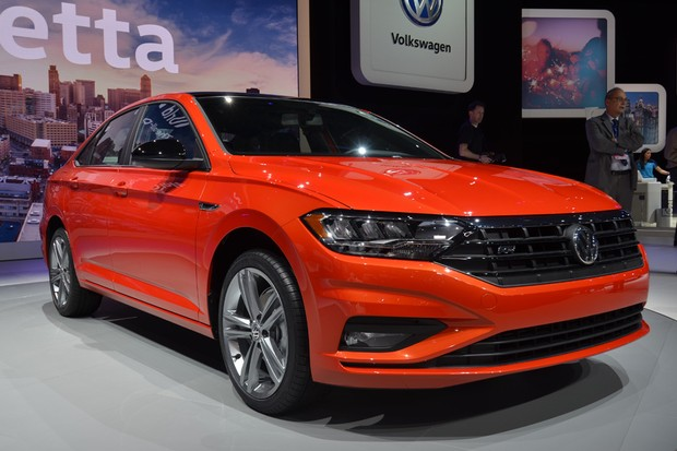 Novo Volkswagen Jetta no Salão de Detroit 2018 (Foto: Diogo Oliveira)