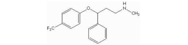 Fórmula molecular da fluoxetina (Foto: Reprodução)